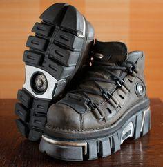 New Rock dark brown/black platform shoes by VintagePlatformDeal