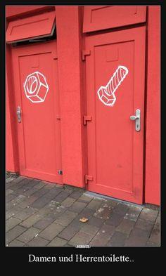 Damen und Herrentoilette..