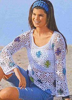 Agulhas Encantadas: Blusas de crochê com gráficos!