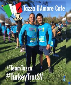 Happy Thanksgiving! Team Tazza doing the Silicon Valley Turkey Trot for Charity this morning!
