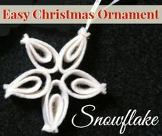 This time of year, I just love finding an easy Christmas ornament to make with the kids.  This snowflake is just that. They are easy to make, very fast and require little fabric.   Snowflake -...