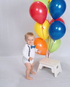 Baby Boy First Birthday Outfit.  Snap on tie or bow tie.  blue ones. gray suspenders. unique trendy preppy on Etsy, $24.00