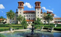 Check out antiques in the old swimming pool of Alcazar Hotel in the Lightner Museum.