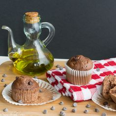 Chocolate and Olive Oil muffins recipe – Tasty Mediterraneo
