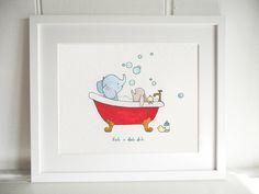 rub a dub dub print by daisy & bump nursery art | notonthehighstreet.com