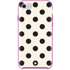 Kate Spade Le Pavillion Dot Iphone 7 Case ($40) ❤ liked on Polyvore featuring home, home decor, polka dot home decor, kate spade, kate spade home decor and whimsical home decor