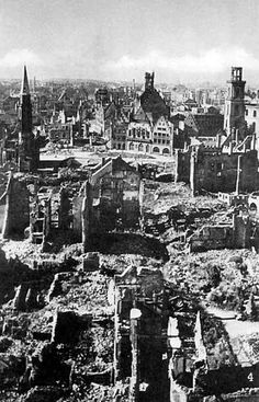 Berlin during WWII - Allied bombing runs reduced most of it to rubble