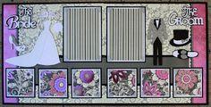 Faith Abigail Designs - Complete Wedding Album Series: Bride and Groom Double Scrapbook Layout