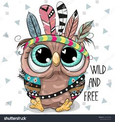 Illustration about Cute Cartoon tribal Owl with feathers on a white background. Illustration of design, hair, background - 129079172 Owl Clip Art, Owl Art, Animal Drawings, Cute Drawings, Arte Fashion, Owl Wallpaper, Owl Feather, Feather Vector, Happy Paintings