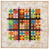 FREE Quilt Pattern: Plus Signs. Pam Rocco decided to make this easy FREE quilt pattern after using a stack of brightly-colored fabrics she just couldn't get enough of!