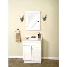 White Colonial Mirrored Medicine Cabinet