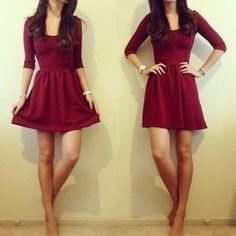 Maroon dress love it