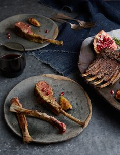 CHARRED SPICED LAMB CHOPS WITH FIGS AND POMEGRANATE - Kinfolk