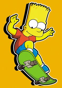 High Quality Guaranteed,create a gift with Bart Simpsons On Skateboard Design logo on t shirts or phone cases from HICustom.net .24 hour service available.