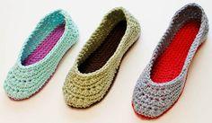 Crochet Pattern Ladies Crochet Slippers Pattern