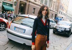 Diletta Bonaiuti in a Gucci sweater