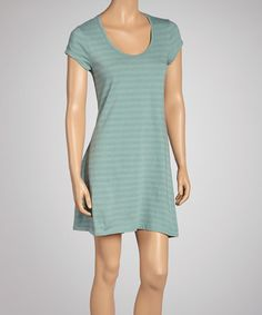 Take a look at this Waterfall Stripe Organic Dress by Blue Canoe on #zulily today!