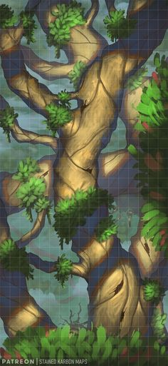 Fantasy Town, Fantasy Battle, Fantasy Map, Medieval Fantasy, Forest Map, Rpg Map, Map Layout, Grid, Giant Tree
