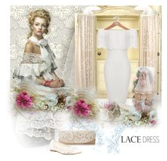 """Lace dress"" by nicolevalents ❤ liked on Polyvore featuring York Wallcoverings, Jessica McClintock and Soludos"