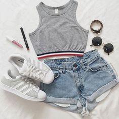Teen fashion outfits, fashion clothes, cute summer outfits, cute fashion, o Teenage Outfits, Teen Fashion Outfits, Mode Outfits, Cute Fashion, Look Fashion, Outfits For Teens, Girl Outfits, Womens Fashion, Fashion Trends