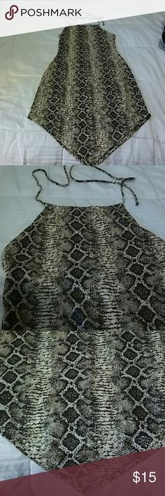Sexy Leopard Print Dress Backless only worn once Dresses Backless