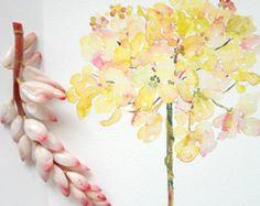 Hortensie Aquarell Fine Art Print, Aquarell Blumen, 8 x 10