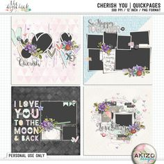 Cherish You | Quickpages by Akizo Designs - For Digital Scrapbooking Page