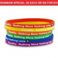 support LGBT equal rights gay wristband