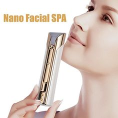 Updated Facial Steamer JoyPlus Portable Skin Care Smart Nano SPA Device Skin Test with Free APP Facial Mist Sprayer Humectant Moisturizer Essential Oil Diffuser 10 ml White >>> Read more at the image link.