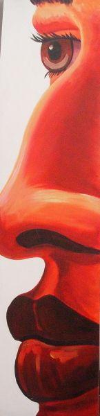 CompArte cada día: Francisco Perez Betancor - CanariasArte  // S/T //  Acrilico sobre Madera //  220 cm de alto x 40cm de largo