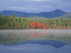 White Mountains New Hampshire | Fall Reflections in Chocorua Lake, White Mountains, New Hampshire, USA ...