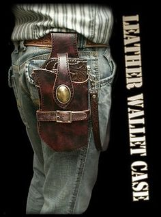 Long Wallet Holster with Antique Finish/ Metal Concho