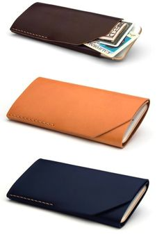 This slim leather iPhone 6 wallet is the perfect accompaniment to your beautiful new phone | Made on Hatch.co by independent makers & designers