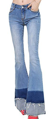 New Trending Denim: Alion Womens Retro Slim Fit Wide Flared Jeans Light Blue L. Alion Women's Retro Slim Fit Wide Flared Jeans Light Blue L  Special Offer: $26.60  155 Reviews Marterial: we recommend you to double check size measurement in each product description comparing with your clothes.If you haven't tried our goods before, we suggest you to...