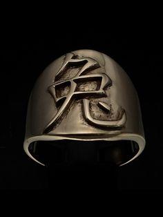 SHINING BRONZE MENS ZODIAC COSTUME RING CHINESE LETTER RABBIT SYMBOL Zodiac Rings, Costume Rings, Bronze Ring, Sagittarius, Rabbit, Cancer, Chinese, Symbols, Lettering