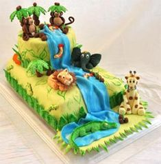 I just discovered your wonderful jungle birthday cake of internet it's look so great. I really love to it for the birthday of my son. May I ask you to tell me how you did ? I'm very impressed in all the details, the trees, the animals I'm impressed in everything's. WOW !! How many hours did you need to do it ?