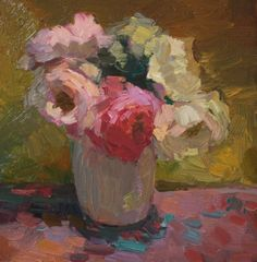 Still Life with Roses, painting by artist Kathryn Townsend