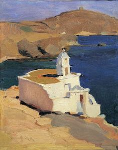 Tinos Agios Markos 1923 Greeting Card for Sale by Lytras Nikolaos Painter Artist, Artist Art, Abstract Landscape, Landscape Paintings, Watercolor Paintings, Landscapes, Picasso Prints, Greek Paintings, Greek Art