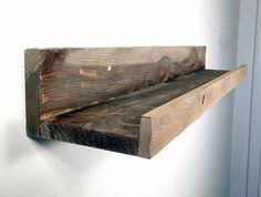 Barn Wood Picture Ledge, Picture Shelf, Floating Shelves, Rustic Shelf, Barn Wood Finish, Home Decor, Gallery Wall Decor