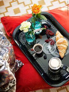 Breakfast | IKEA Livet Hemma – inspirerande inredning för hemmet Ikea Breakfast, Bed And Breakfast, Breakfast Recipes, Ikea Bedroom, B & B, Diy Food, Kors, Table Settings, Living Room