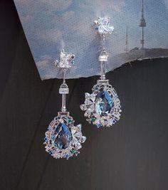 Jewelry Design Earrings, Ear Jewelry, Cute Earrings, Unique Earrings, Cute Jewelry, Beautiful Earrings, Crystal Jewelry, Fashion Earrings, Jewelery