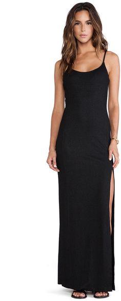 Long Black Sleeveless Dress