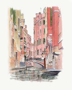 John Edwards (@johnedwardsart) в Instagram: «Venice Bridge #sketch #sketching #artistsoninstagram #art #artist #venice #venezia #venicebridge #aquarell #art #painting #watercolor #watercolour #sketch  #paint  #drawing #sketching #sketchbook #travelbook #archisketchery #sketchaday #sketchwalker #sketchcollector  #traveldiary #topcreator #usk  #urbansketch #urbansketchers #скетчбук #скетч #скетчинг #pleinair #aquarelle #watercolorsketch #usk #architecture #painting #illustration