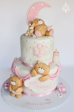 forever friends teddy bear cake   By : Mary Cakes