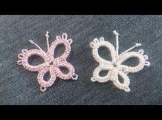 """Frivolité , Brinco """"Hermosura"""" ( tatting easy earings) - YouTube Tatting Earrings, Tatting Jewelry, Tatting Lace, Crochet Earrings, Needle Tatting Tutorial, Needle Tatting Patterns, Crochet Patterns, Crochet Butterfly, Crochet Flowers"""