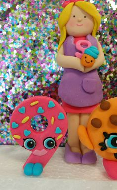 Shopkins Cake Decorations 1 qty Shopkins by SugarAndStripesCo