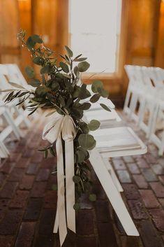 Unbelievable Eucalyptus Wedding Decor Ideas For Amazing Spring – Best Wedding Ceremony Ideas Wedding Aisles, Wedding Greenery, Wedding Reception, Wedding Ceremonies, Wedding Games, Simple Church Wedding, Simple Weddings, Church Weddings, Winter Weddings