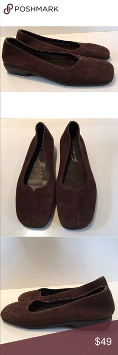New Coldwater Creek Flats Size 6.5 Brown Suede. #shopmycloset #poshmark #fashion #shopping #style #forsale #Coldwater Creek #Shoes