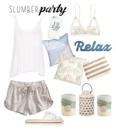 Sleep on It! Slumber Party Style by yinggao on Polyvore featuring polyvore mode style rag & bone Lucky Brand Hanky Panky Balenciaga Casetify Vera Bradley MM Linen Pier 1 Imports fashion clothing slumberparty
