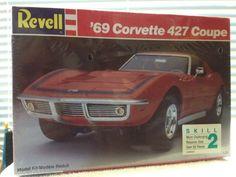 Revell 1969 Chevy Corvette 429 Coupe Model Kit  1989 Rlse Error Print SEALED #RevellT149
